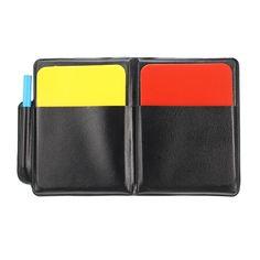 aa116994336 Fútbol campeón tarjeta amarilla y roja Arbitro ADVERTENCIA fútbol partido  registro tarjetas Soccer Referee