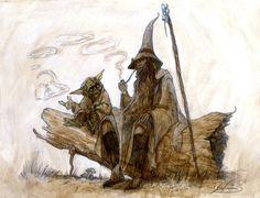 Yoda and Gandalf