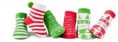 Santa's Helper Baby Sock