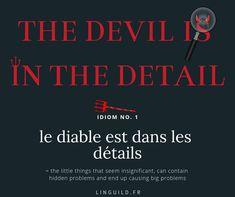 Expression courante en anglais : the devil is in the detail(s). C'est pour ça qu'il ne faut pas négliger les détails ! Pourquoi je dis ça ? Venez vite lire cet article pour comprendre à quel point cela est vrai et aussi pour booster votre anglais ! 🚀  #EnglishIdioms #Idioms #ExpressionAnglaise #EnAvantAnglais #AméliorerSonAnglais #VocabulaireAnglais #ApprendreAnglais #FichesAnglais #AnglaisGratuit