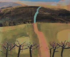 Elaine Pamphilon - Pink Sun Splashing on the Field-evening Walk to Zennor