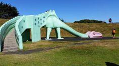 Dinosaur Slide Marlow Park Playground, St Kilda, Dunedin