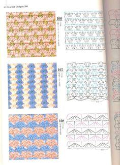 Irish lace, crochet, crochet patterns, clothing and decorations for the house, crocheted. Crochet Stitches Patterns, Lace Patterns, Crochet Designs, Stitch Patterns, Crochet Cord, Crochet Books, Crochet Diagram, Crochet Motif, Free Crochet