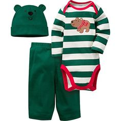 Gerber Baby Boys' 3 Piece Bodysuit, Cap, and Pant Set - http://www.bestseller.ws/blog/clothing-shoes-jewelry/gerber-baby-boys-3-piece-bodysuit-cap-and-pant-set/