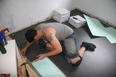 Marmoleum Click in Volcanic Ash, so easy to install! Has potential Linoleum Flooring, Floors, Volcanic Ash, Flooring Options, Kitchen Backsplash, Bathroom Ideas, Interior Decorating, Easy, House