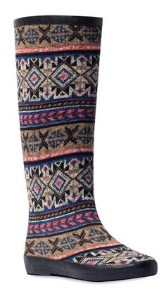25270a76743e Patterned rain boot    Tall Boots