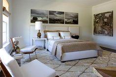 modern chic white bedroom