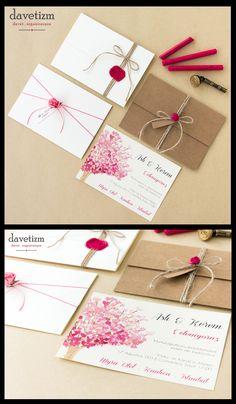 Suluboyanın romantizmi ve bir kiraz ağacı... #davetizm #davetiye #invitation #wedding