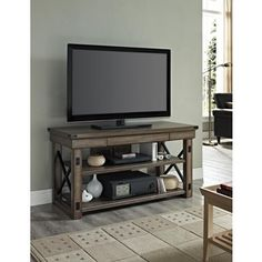 Wildwood Rustic Metal Framed TV Console | Overstock.com Shopping - Great Deals on Entertainment Centers