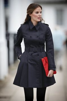 Full Skirt Trench Coat in midnight, £99.  Available in sizes 8-18 Curvy, Really Curvy, Super Curvy