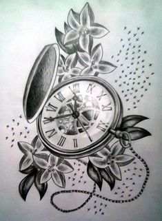 Seriously considering this as a cover-up on my back. #tattoo #pocketwatch #coverup