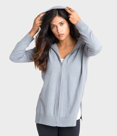 Cashmere Hoodie Classic Athleisure  #athleisure #cashmere #hoodie #greysweater #zipup Athleisure Outfits, Athleisure Fashion, Cashmere Hoodie, Cozy Fashion, Grey Hoodie, Hoodies, Sweatshirts, Hooded Jacket, Zip Ups