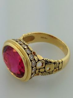 Alex Sepkus pink tourmaline ring