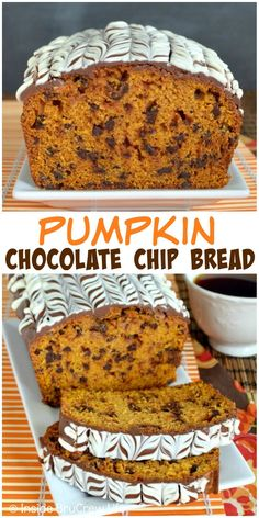 This pumpkin bread is full of chocolate chips and has a fun chocolate glaze. It is definitely the way to start off pumpkin baking!
