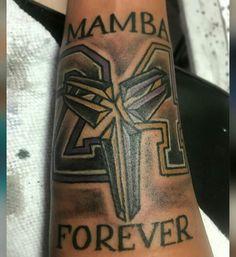 Dark Art Tattoo, I Tattoo, Kobe Bryant Tattoos, Tribute Tattoos, Lakers Kobe, Nba Players, Forearm Tattoos, Tatoos, Tatting
