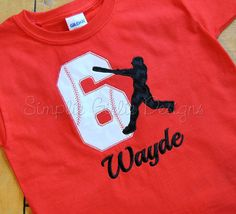 Custom baseball birthday shirt.  by SimplieGirlieDesigns, $24.00