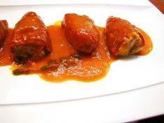 Pimientos del piquillo rellenos de carne picada