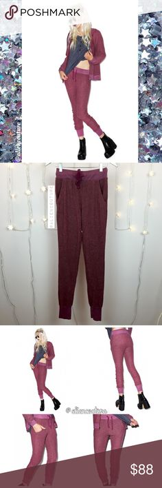 Wildfox Love Story Joggers Not exaggerating when I say these pants are the softest most dreamy pants I've ever felt. Ever. So beyond bummed these don't fit me. Brand new with tags. Gorgeous and on trend burgundy color. In style jogger fit. Love that these are more fitted than other Wildfox sweats. Super soft (BBJ material) and comfy yet sexy at the same time. Still crying over the fact they don't work for me...you def will be obsessed! Sold out everywhere. Lower offsite. Wildfox Pants Track…