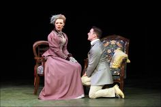 Helen Keeley as Gwendolen Fairfax, Paul Sandys as Jack Worthing