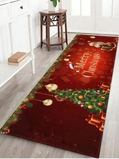 Father Christmas Tree Printed Coral Fleece Floor Mat Carpet Flooring, Rugs On Carpet, Carpets, Cheap Floor Rugs, Fleece Patterns, Bathroom Carpet, Christmas Tree Baubles, Father Christmas, Christmas Gifts