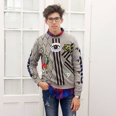 Eder with his multi icon sweatshirt by Kenzo.