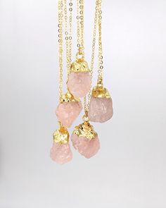 Shop my sale: 20% off raw rose quartz jewelry. No code required - just go to the Sale section of studiovy.etsy.com. Offer ends Oct 11th, 2020. #rosequartzjewelry ⁠#necklacesale #octoberbirthstone #birthstonenecklace #crystalhealingjewelry