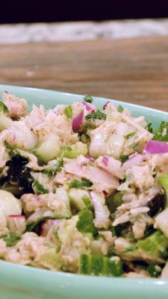 Healthy Foods To Make, Healthy Diet Recipes, Healthy Food Choices, Healthy Salad Recipes, Healthy Nutrition, Healthy Snacks, Healthy Eating, Mediterranean Tuna Salad, Mediterranean Dishes