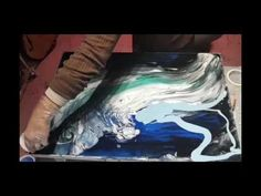 """Resin """"Pour"""" Art - Starburst - YouTube Resin Pour, Step By Step Drawing, Acrylic Pouring, New Tricks, Art Tips, Diy Art, Creative Art, Waves, Drawings"""