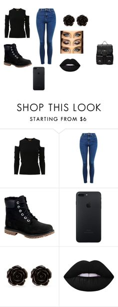 """Untitled #12"" by shortiiiee on Polyvore featuring Michael Kors, Topshop, Timberland, Erica Lyons, Lime Crime and Sole Society"