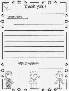 Veterans day freebie dear veteran thank you for letter writing a letter to a hero veterans day expocarfo