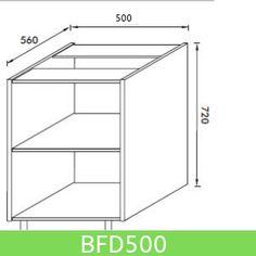 Base Unit 500 mm (Full Height Door)