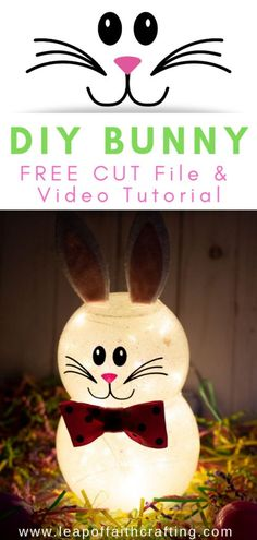 How to Make a Bunny Out of Glitter and Dollar Store Supplies! – Leap of Faith Crafting DIY Easter decorations out of dollar store supplies. Make this cute DIY Easter bunny craft with kids. Bunny Crafts, Easter Crafts, Easter Ideas, Flower Crafts, Cards Diy, Dollar Store Crafts, Dollar Stores, Crafts For Teens, Crafts To Do
