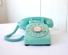 Cute Blue Vintage Phone