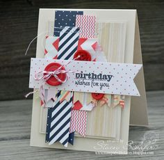 Birthday card by Stacey Schafer using Verve Stamps #vervestamps