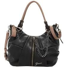 Image result for guess rockabilly large satchel black and rose with chain detail