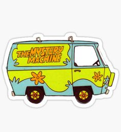 The Mystery Machine from Scooby Doo cartoon. A party house on wheels! Cool Stickers, Laptop Stickers, Van Drawing, Mystery Machine Van, Scooby Doo Mystery, Machine Design, Transparent Stickers, Sticker Design, Cartoon Characters