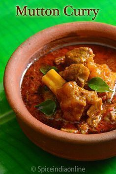 Mutton Curry , Goat Curry , South Indian style Mutton gravy