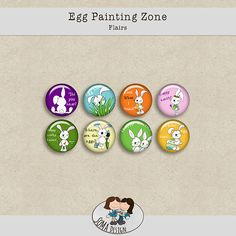 SoMa Design Egg Painting Zone Flairs Digital Scrapbooking, Eggs, Painting, Kit, Design, Egg, Painting Art, Paintings, Paint