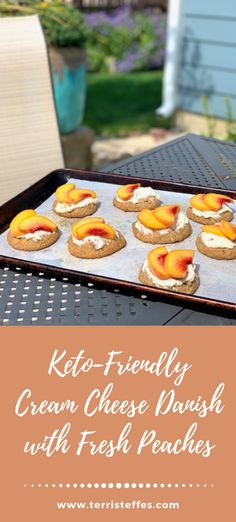 Sometimes you just want a cream cheese danish! Here is a keto friendly version for your eating pleasure! #ketodanish #peaches #freshpeaches