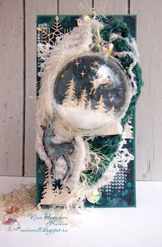 """Итоги задания """"Скрапворд № 18"""". Нинель Christmas Gift Wrapping, Christmas Crafts, Snow Globes, Cardmaking, Holiday Cards, Stationery, Paper Crafts, Invitations, Decoupage"""
