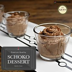 Schoko Dessert Keto Rezept ohne Kohlenhydrate. #LCHF #Keto #Lowcarb #Dessert #Rezepte