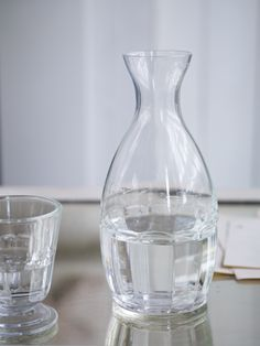 Everyday Carafe - This French style carafe really is 'beautiful and useful'. Classic French weighty glass, with a gentle fluting design, perfect for both everyday and formal dining, and best of all it is dishwasher safe too. £20