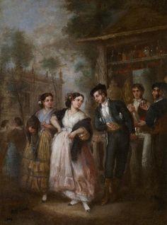 José María Romero y López (1815-1880 Gustave Dore, 1800s Fashion, Women's Fashion, Romantic Paintings, Spanish Fashion, Spanish Artists, Western Art, Impressionism, 19th Century