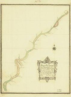 Map: 1784 Plano del Rio Uruguay desde Yapeyu hasta la Estancia de Sn. Gregorio|Uruguay River