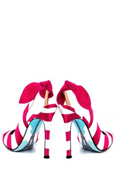 These cuties come with art on the sole!  Romantique Pump-Magenta - The Candy Room