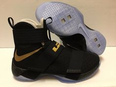 256dc029848 Nike Zoom Lebron Soldier 10 X iD Championship Pack Black Gold 885682-991 Sz  8