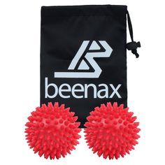 BEENAX Spiky Massage Ball (Set of 2) - 3 Inch - Perfect for Plantar Fasciitis, Foot, Hand, Back Massage, Self-Massage, Deep Tissue Massage, Acupressure, Trigger Point and Stress Reflexology -- Details can be found by clicking on the image.