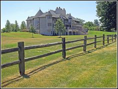 Wooden Fence - This split rail fence provides a rustic barricade that outlines the property. It makes a nice contrast without adding flamboyance to an already beautiful landscape. Installation is easy for a professional fence builder. You'll have a stunning addition to your property in no time.