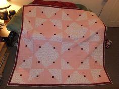 pink log cabin quilt