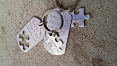 Best Friends Keychains  Bridesmaid Gifts  by SweetAspenJewels